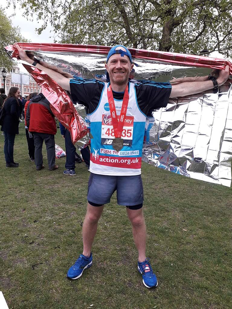 Neil Piper completes the 2019 London Marathon
