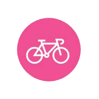 bike icon in pink circle