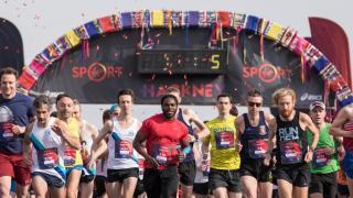 Start of Hackey Half Marathon
