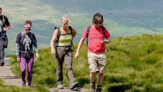 Yorkshire 3 peaks trekkers