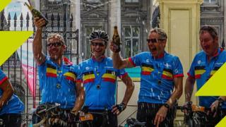 Ziggurat Riders Celebrating