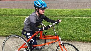 Ian riding his bike