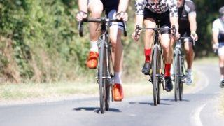 Group of cyclist competing in a RIDE event